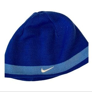 NIKE blue reversible beanie cap hat